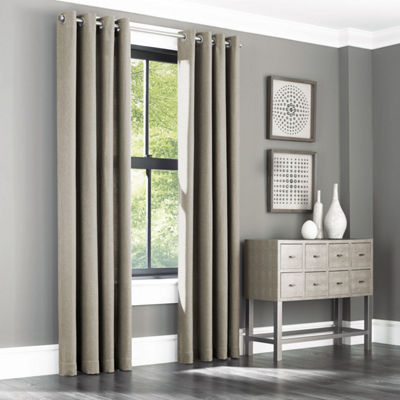 Queen Street Santiago Grommet-Top Curtain 2-Pack