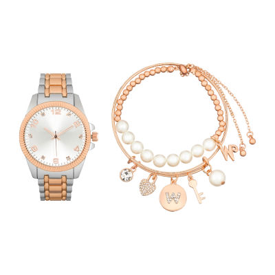 Alexis Bendel Womens Two Tone Watch Boxed Set-7589tr-42-B35
