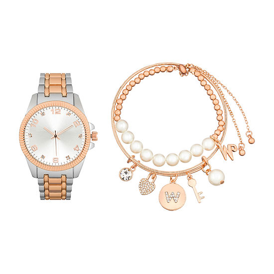 Alexis Bendel Womens Two Tone 3-pc. Watch Boxed Set-7589tr-42-B35