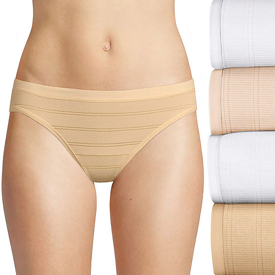 Hanes Breathable Comfort Flex Fit 4 Pair Knit Bikini Panty 42cff4