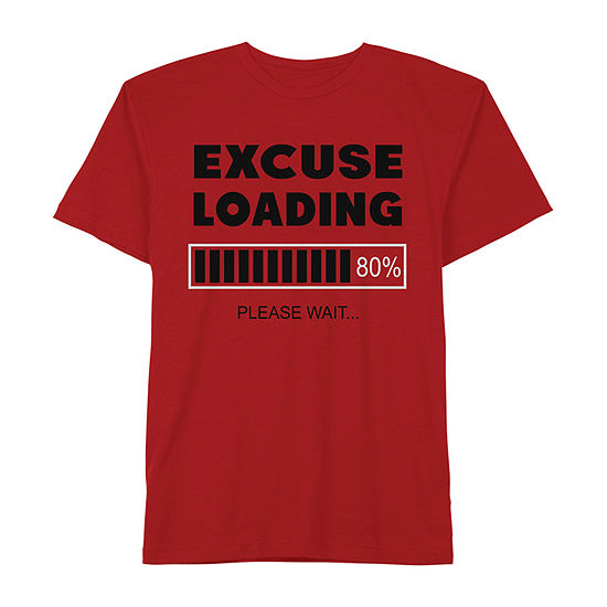"""Excuse Loading"" Boys Crew Neck Short Sleeve Graphic T-Shirt - Preschool / Big Kid"