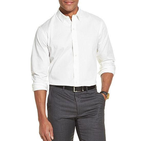 Van Heusen Flex Mens Long Sleeve Striped Button-Front Shirt