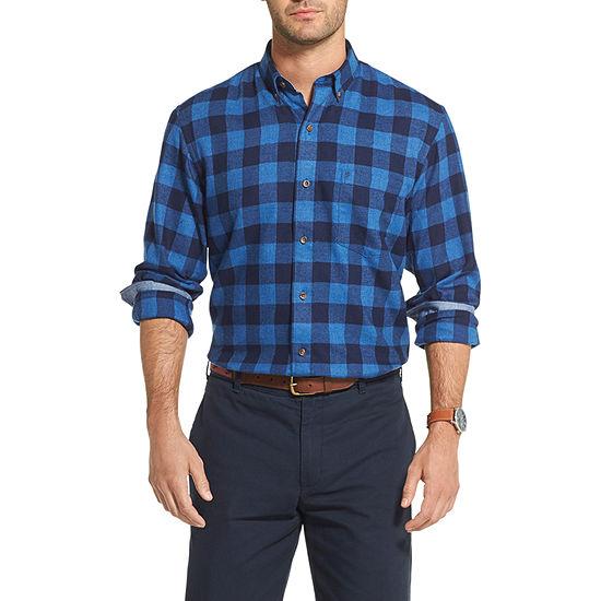 IZOD Mens Long Sleeve Moisture Wicking Flannel Shirt
