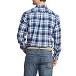 IZOD Mens Long Sleeve Moisture Wicking Flannel Shirt