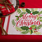Design Imports Merry Christmas Print 6-pc. Placemat