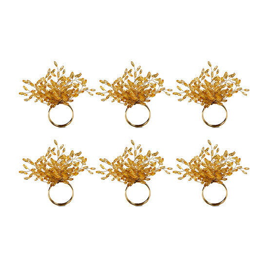Design Imports Beaded Burst 6-pc. Napkin Ring