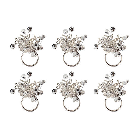 Design Imports Multi-Bead 6-pc. Napkin Ring