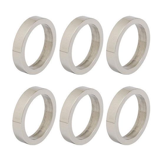 Design Imports Silver Circle 6-pc. Napkin Ring
