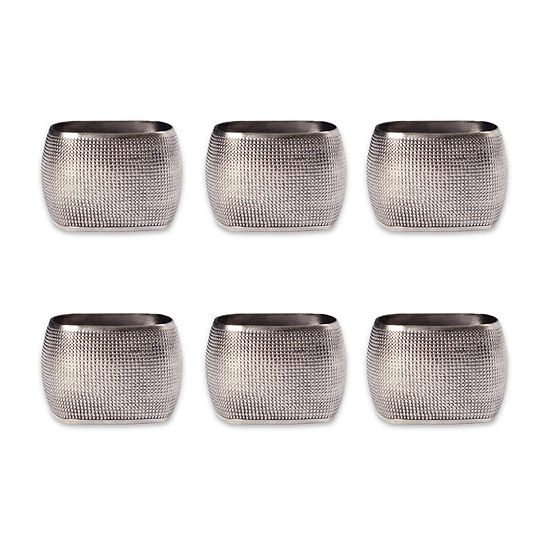 Design Imports Textured Square 6-pc. Napkin Ring