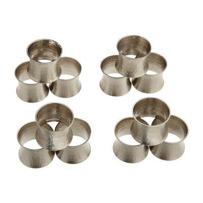Design Imports Hammered 12-pc. Napkin Ring