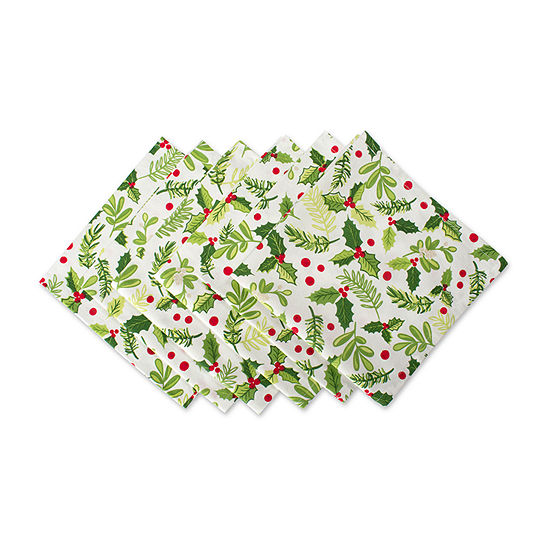 Design Imports Boughs Of Holly 6-pc. Napkins