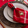 Design Imports Embroidered Mistletoe 6-pc. Napkins