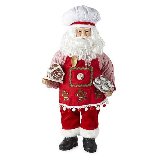 "North Pole Trading Co. 18"" Baker Handmade Santa Figurine"