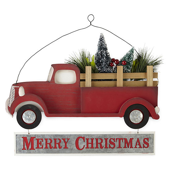 North Pole Trading Co. Merry Christmas Truck Wall Sign