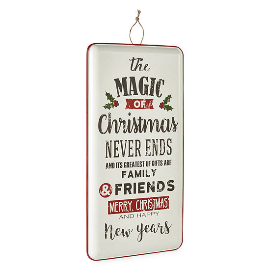 North Pole Trading Co. Magic Of Christmas Enamel Wall Sign