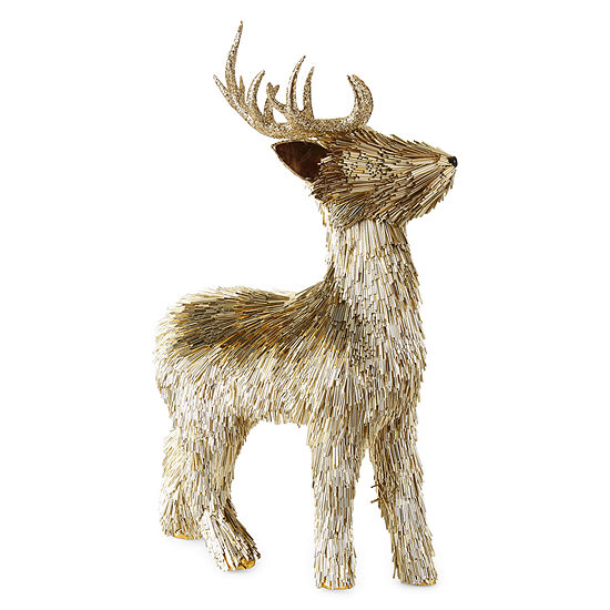 North Pole Trading Co. Gilded Nature Gold Reindeer Tabletop Decor
