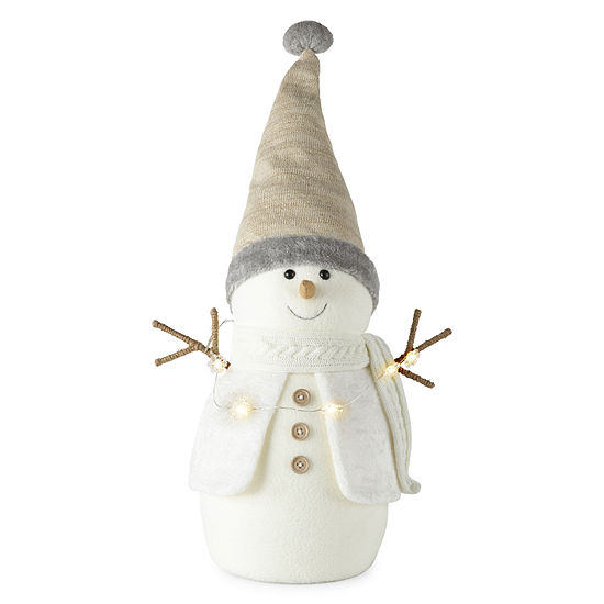 North Pole Trading Co. Snowman With Led Lights -Figurine