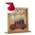North Pole Trading Co. Mistletoe Farms Merry Christmas With Truck Word Block Letter Blocks