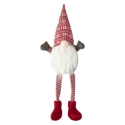 "North Pole Trading Co. Mistletoe Farms 27.5"" Fair Isle Hat Gnome Tabletop Decor"