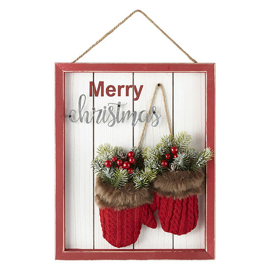 """North Pole Trading Co. 16"""" Mittens Wall Sign"""