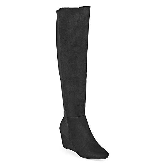 Zigi Girl Womens Heide Over the Knee Boots Wedge Heel