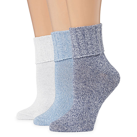 Mixit 3 Pair Turncuff Socks Womens
