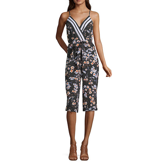 Trixxi Sleeveless Jumpsuit-Juniors