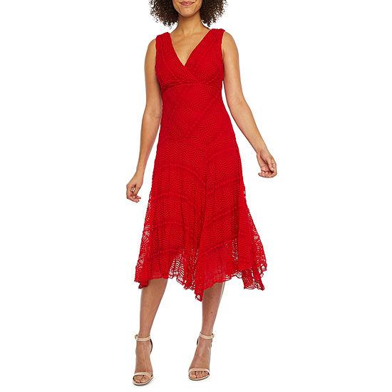 Rabbit Rabbit Rabbit Design Sleeveless Lace Fit & Flare Dress
