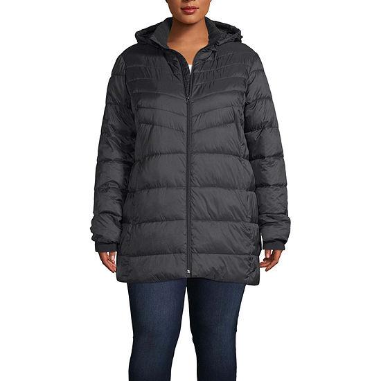 Xersion Hooded Lightweight Puffer Jacket-Plus