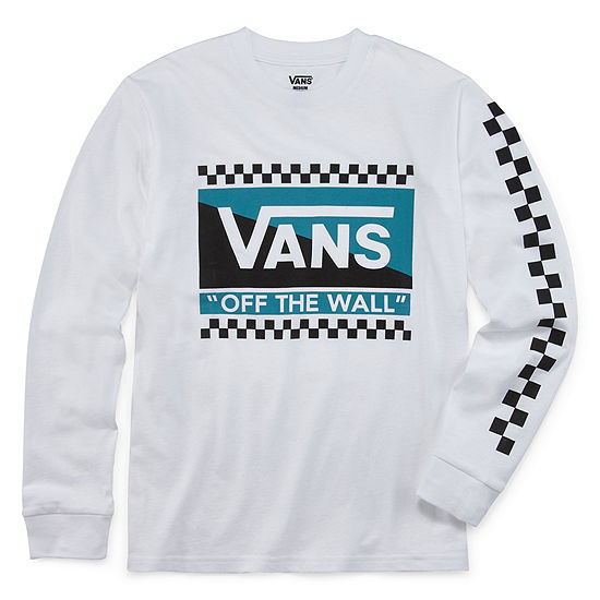 4cc969d5 Vans Boys Crew Neck Long Sleeve Graphic T-Shirt - Big Kid