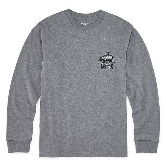Vans Boys Crew Neck Long Sleeve Graphic T-Shirt - Big Kid