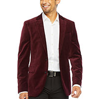 JF J.Ferrar Mens Slim Fit Velvet Sport Coat