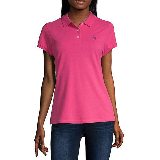 U.S. Polo Assn. Womens Short Sleeve Knit Polo Shirt Juniors