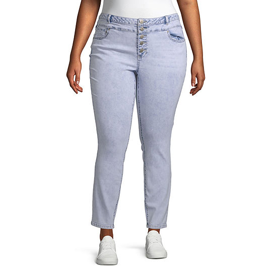 Blue Spice - Juniors Plus Womens High Waisted Skinny Regular Fit Jean