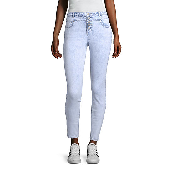 Blue Spice Womens High Waisted Skinny Regular Fit Jean - Juniors