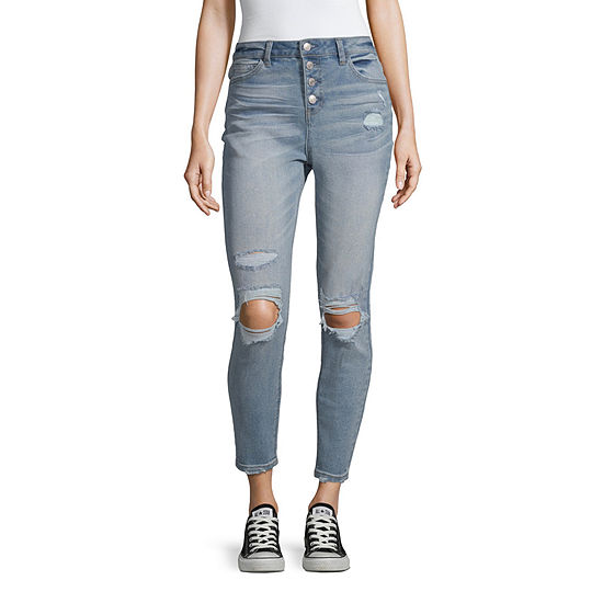 Vanilla Star Womens High Waisted Skinny Regular Fit Jean - Juniors