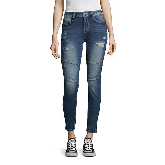 Ymi Womens Mid Rise Skinny Fit Jean Juniors