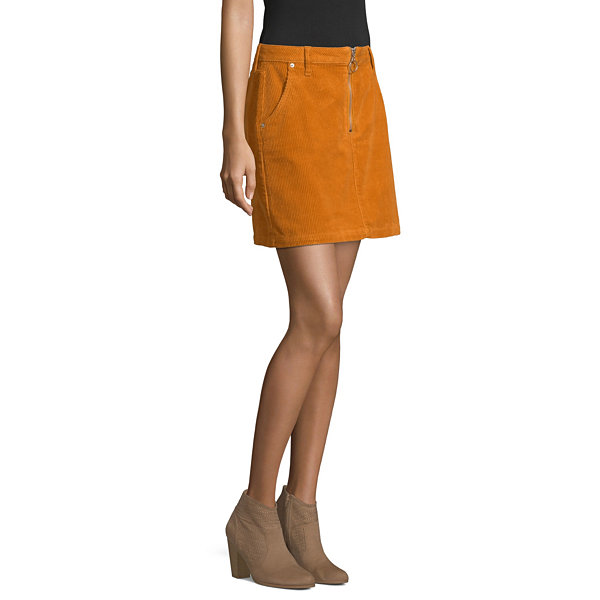 Arizona Womens Short Denim Skirt-Juniors