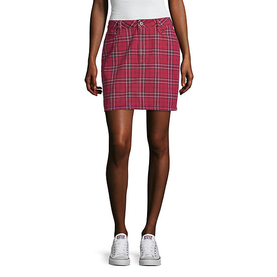 Arizona Short Denim Skirt-Juniors