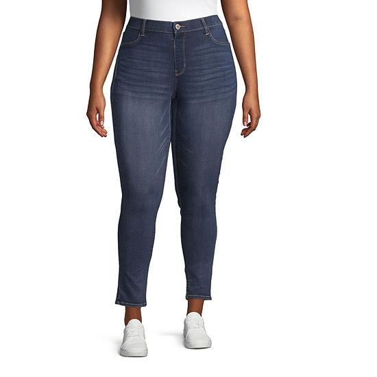 Arizona Womens Skinny Jeggings - Juniors Plus