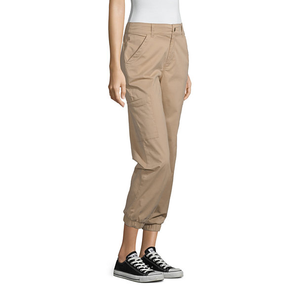 Arizona Womens Cinched Cargo Pant-Juniors