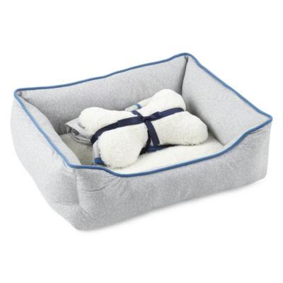 North Pole Trading Co. Polar Bear Family Pet Bed Set -Pet