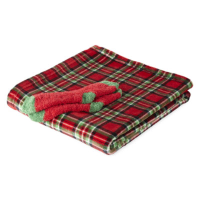 North Pole Trading Co. Rudolph Family Throw and Socks