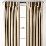 JCPenney Home Supreme Thermal Energy Saving Light-Filtering Pinch-Pleat Single Curtain Panel
