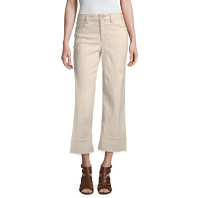 a.n.a Womens High Waisted Wide Leg Cropped Jean