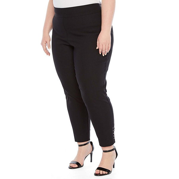 Worthington Studded Skinny Ankle Pant - Plus