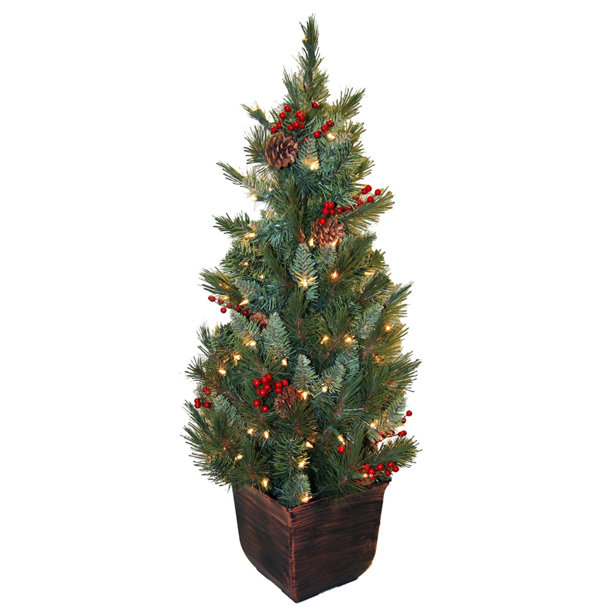 4' Pre-Lit Potted Christmas Tree
