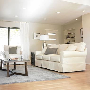 Twill Slipcover Sofa Custom Slipcovers By Sey White Twill