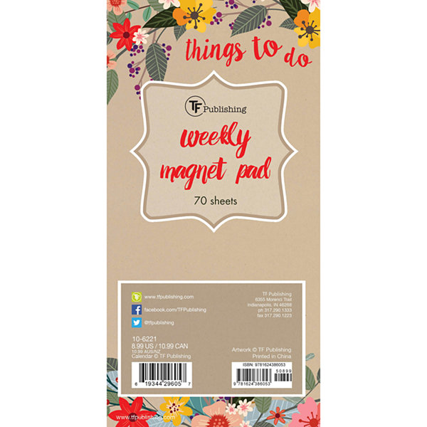 Secret Garden 70 Page Magnetic List Pad