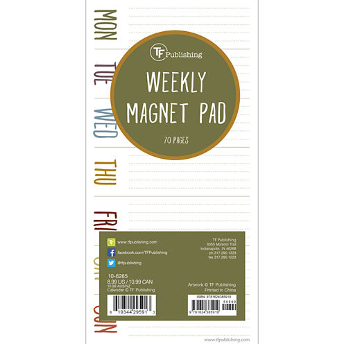 Earth Days 70 Page Magnetic List Pad